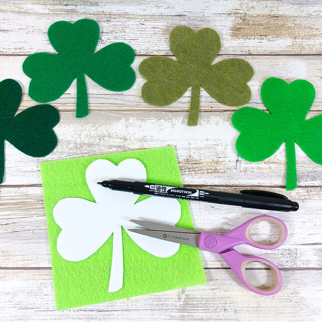 kawaii inspired shamrocks craft