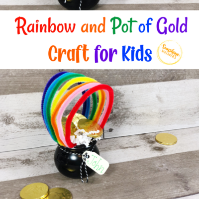Rainbow And Pot Of Gold Craft For Kids