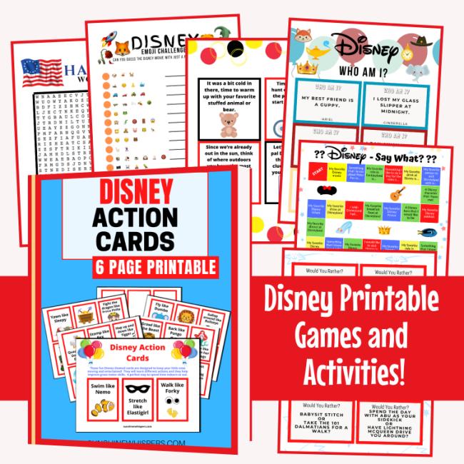 disney games and activities